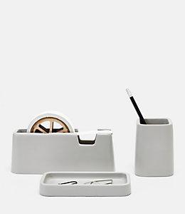 Concrete Desk Set by Areaware