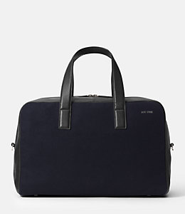 Kahn Wool Leather Overnight Bag