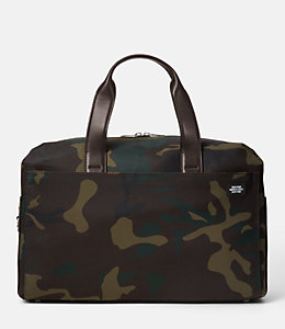 Camo Waxwear Overnight Bag