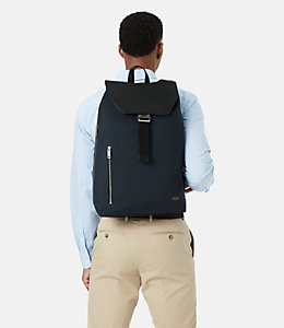 Perry Leather And Nylon Backpack