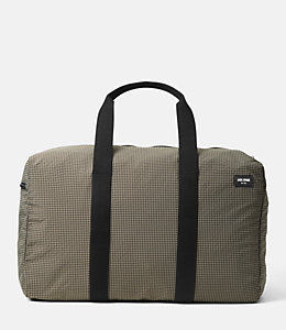 Packable Graph Check Duffle Bag