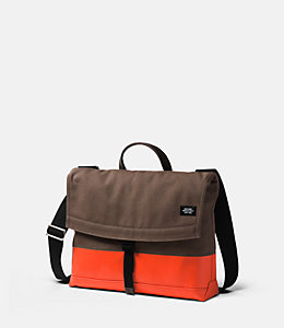 Dipped Industrial Canvas Dipped Folded Messenger