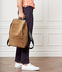Suede Utility Backpack