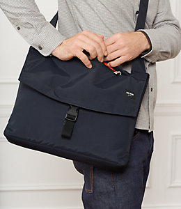 Tech Travel Nylon Folded Messenger