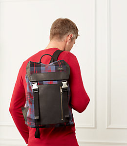 Cocharron Plaid Army Backpack