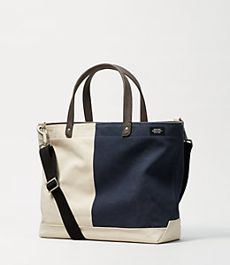 Industrial Canvas Bi-Color Coal Bag