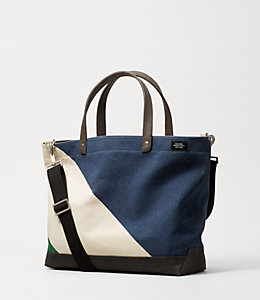 Industrial Canvas Diagonal Dipped Coal Bag