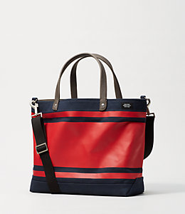 Industrial Canvas Triple Stripe Coal Bag