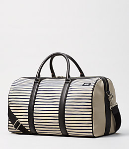 Industrial Canvas Striped Duffle