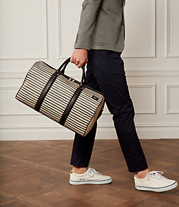 Industrial Canvas Striped Duffel