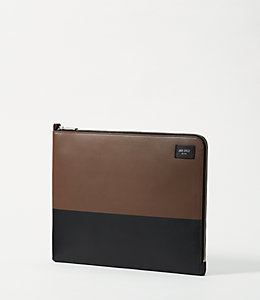 Leather Dipped Zip Portfolio