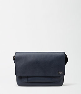 Mason Leather Zip Messenger Bag