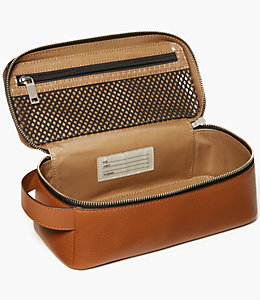 Pebbled Leather Dopp Kit