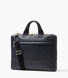 Pebbled Leather Slim Brief