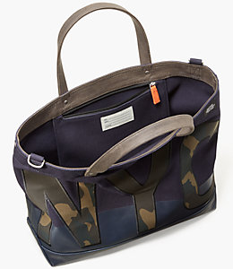 NYC Camo Dipped Canvas Coal Bag