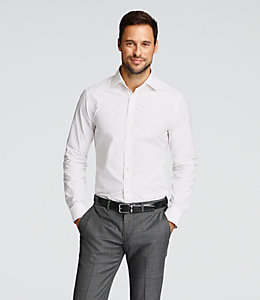 Solid Bradford Spread-Collar Shirt