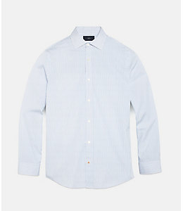 Thin Stripe Bradford Spread-Collar Shirt