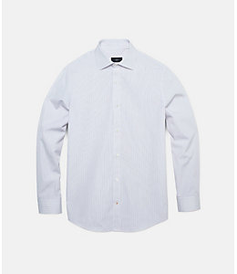 Thin Stripe Bradford Spread-Collar Shirt