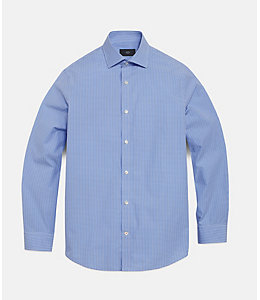 Gingham Bradford Spread-Collar Shirt