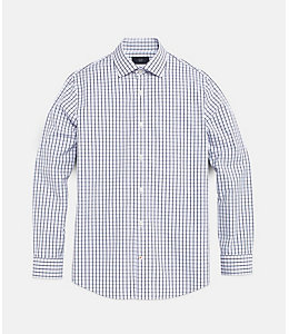 Windowpane Check Bradford Spread-Collar Shirt