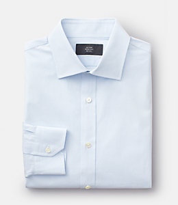 Grid Bradford Spread-Collar Shirt