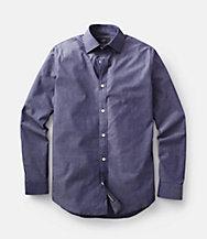 Chambray Bradford Spread-Collar Shirt