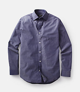 Chambray Bradford Spread-Collar Shirt