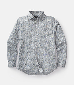 Pointillist Bradford Spread-Collar Shirt