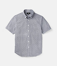 Newkirk Cross Lines Printed Short Sleeve Shirt