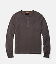 Sueded Long Sleeve Henley