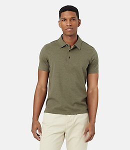 Keaton Heathered Polo