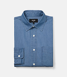 Grant Bleached Chambray Shirt