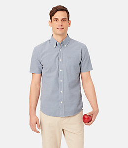 Caulfield Gingham Seersucker Shirt