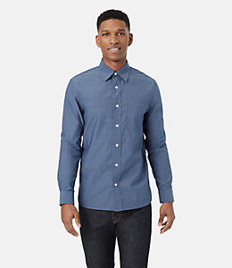 Grant Blue Pindot Shirt