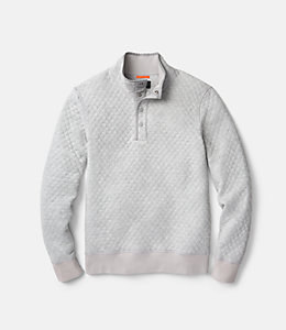 Quilted Mock Neck Snap Pullover