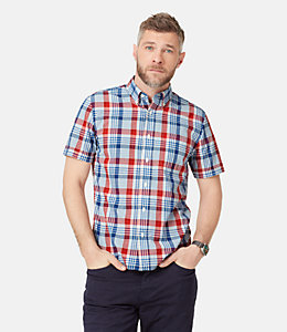 Caufield Linen Large Plaid Shirt