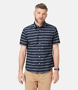 Clift Drawn striped Print Shirt
