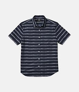 Clift Drawn Stripe Print Shirt