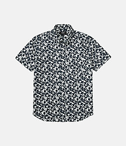 Clift Splatter Print Point Collar Shirt