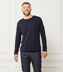 Micro Terry Cloth Sweatshirt