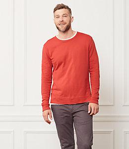 Micro Terry Cloth Sweatshirt