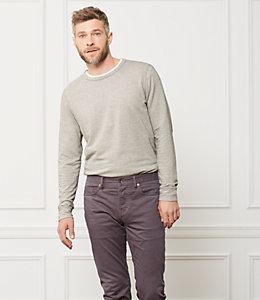 Striped Micro Terry Cloth Sweatshirt