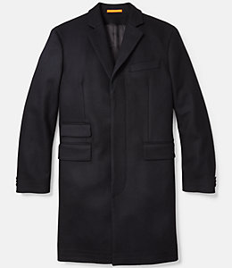 Single Breasted Wool Twill Topcoat