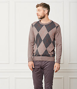 Argyle Crewneck Sweater