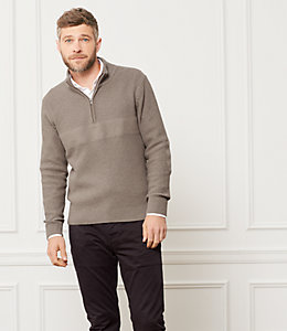 Half Zip Needlepunch Sweater