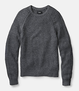 Shaker Stitch Ribbed Crewneck