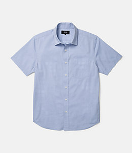 Clift Diamond Print Pinpoint Oxford Shirt