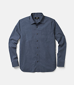 Grant Heathered Gingham Point Collar Shirt