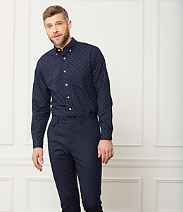 Palmer Diamond Dot Printed Shirt