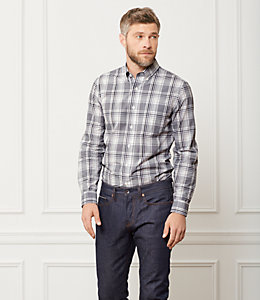 Palmer Houndstooth Gingham Plaid Shirt